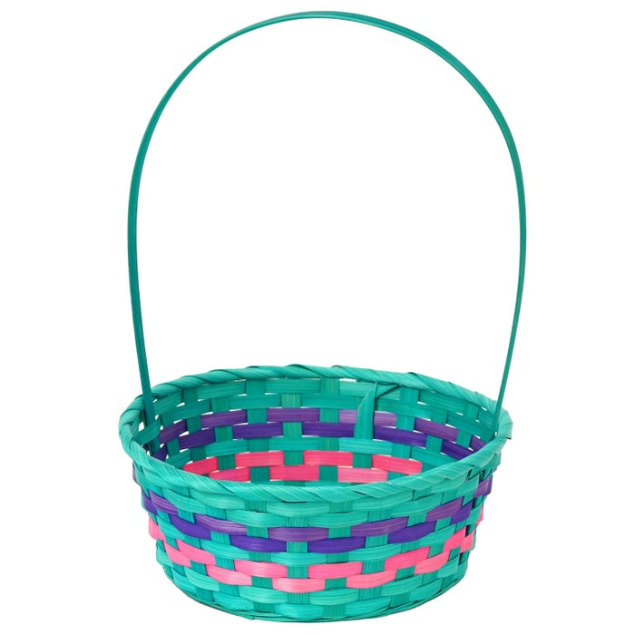 All of the fabulous Easter goodies you get for the kiddies need a home that's just as nice. These colorful, sturdy bamboo baskets are sure to be a hit!