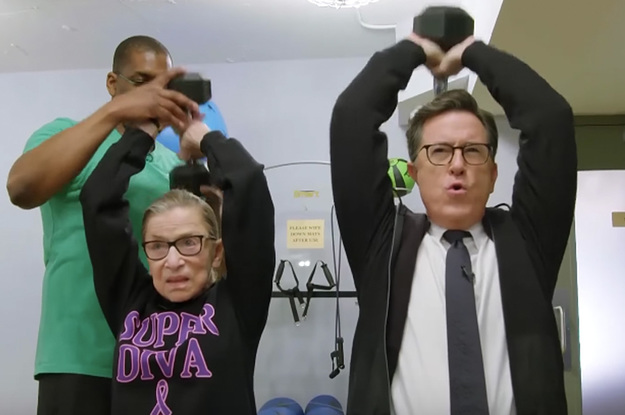 If I've Only Got Minutes Left To Live, Show Me This Video Of Stephen Colbert Working Out With Ruth Bader...