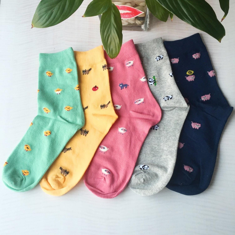 set of socks in black color