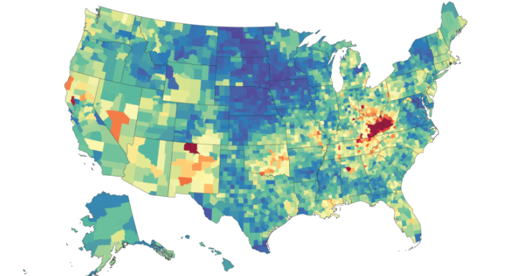 These Maps Show Where Deaths Of Despair Are Most Likely