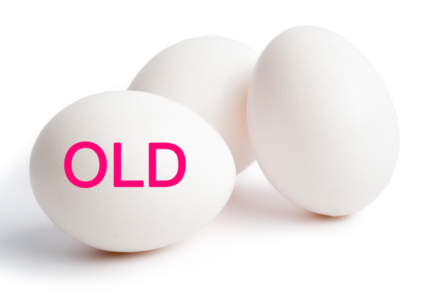 You use super fresh eggs when you make hard-boiled eggs.