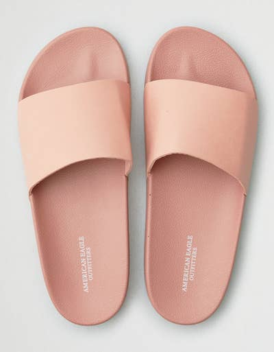 3a328b381cfb American Eagle has a thing for slip-on sandals with prices worth sliding  right on into.