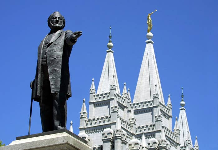 A statue of Brigham Young in Salt Lake City.