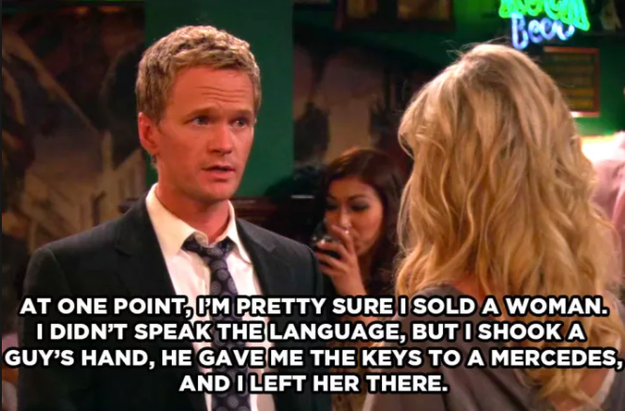 """And, finally, the fact that Barney """"once sold a woman."""""""