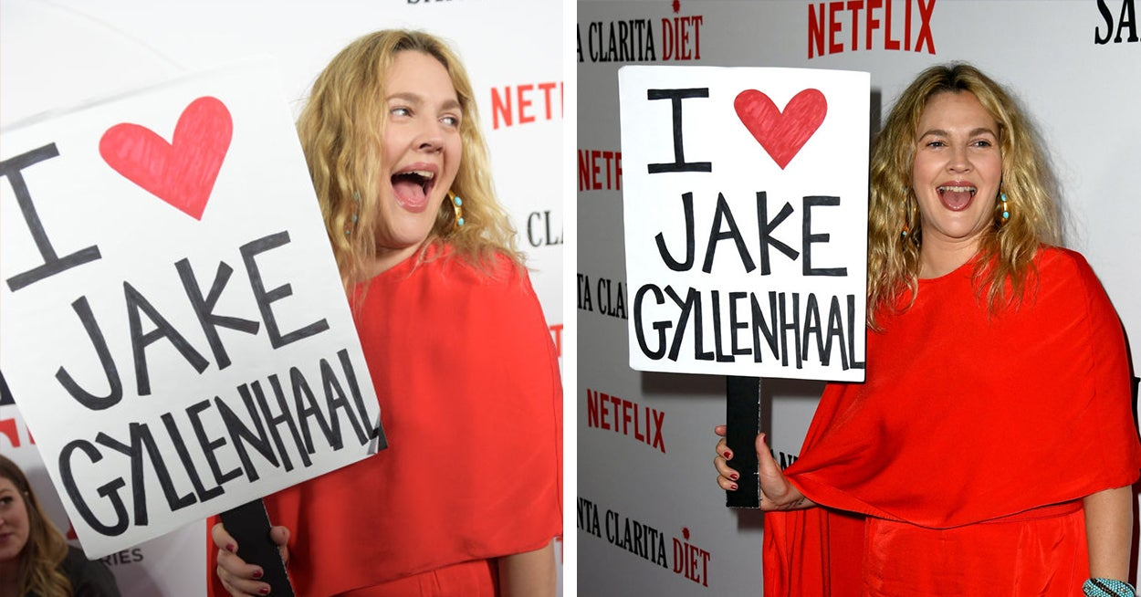 Drew Barrymore Took An I Heart Jake...