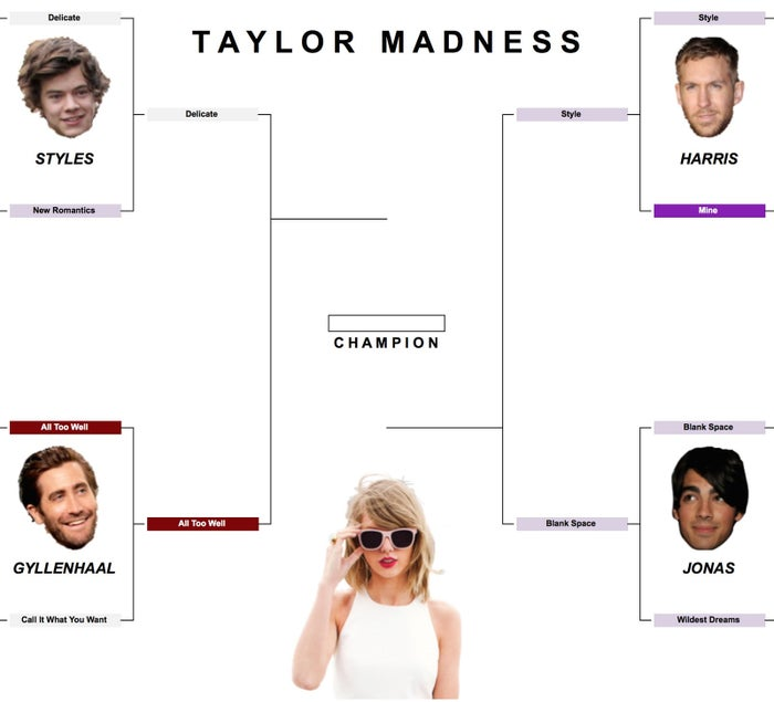 At long last, the semifinals have arrived. Will All Too Well continue to steamroll its opposition, or can Delicate strike one last blow for Reputation? Can Style upset Blank Space in the battle for best song off of 1989? Scroll down to vote!**Updated March 26**Semifinal polls are closed -- vote in the championship round HERE!