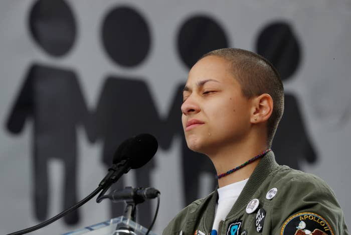 """Voter registration was a big theme at the main march in Washington, DC, with the Parkland teens behind the Never Again movement making a point to mention it in their speeches. """"Get out there and vote. Get out there and get registered,"""" Emma González said to the crowd.David Hogg, another Never Again leader, echoed González, saying, """"Vote for us, vote for our future."""""""