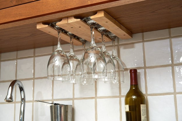 And an under-the-cabinet hanging wineglass rack that'll seal the deal.