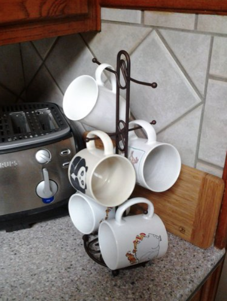A mug tree so up to six of your faves are always within arm's reach if cabinet space is at a premium.