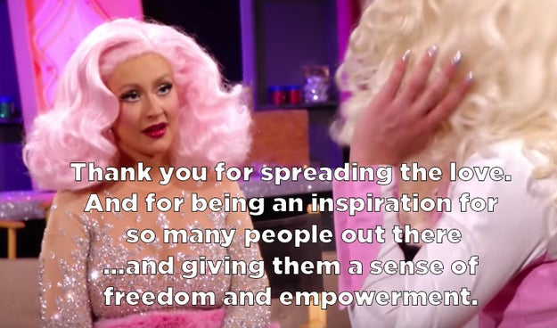 And Xtina complemented Farrah back, calling her an inspiration.