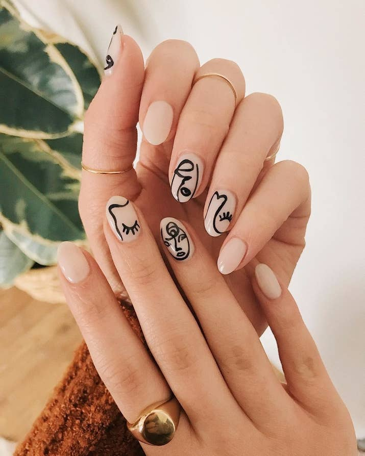 People Are Painting Their Nails Like Picasso Paintings, And Honestly ...