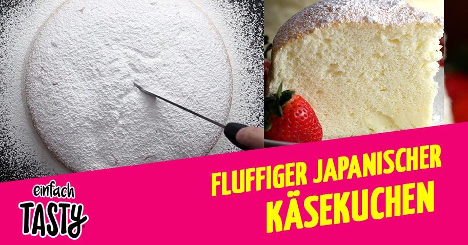 Dieser Fluffige Japanische Kasekuchen Ist Einfach So Fluffig Lecker