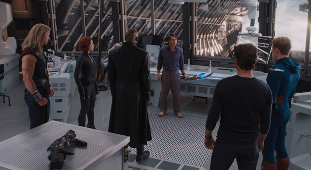 Or like when the Scepter starts to infect everyone's minds when they're onboard the Helicarrier in The Avengers.