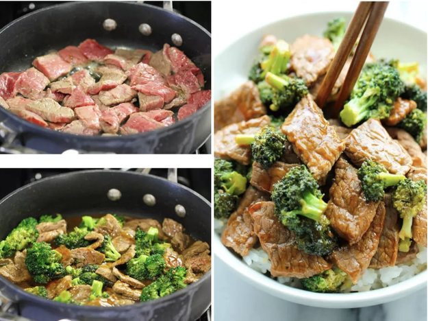 Easiest One-Pot Beef with Broccoli
