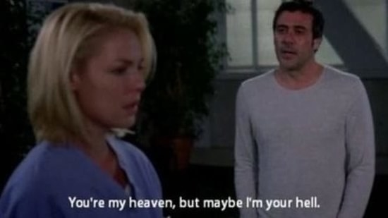 When Izzie had full-blown ghost sex with Denny.