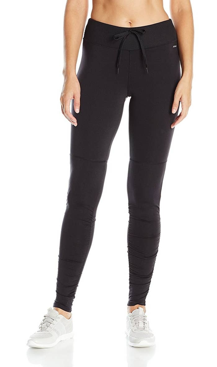 61387cadbf4c60 Ankle leggings with a drawstring tie AKA you'll be able to adjust the  waistband to your liking.