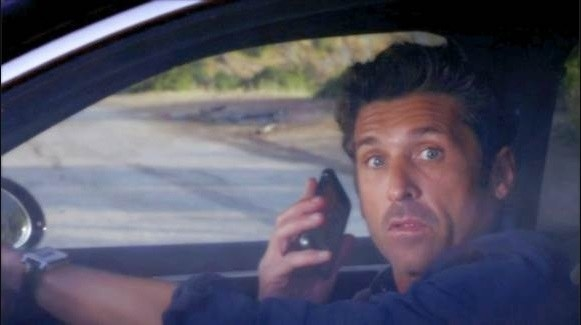When Derek died after stopping in the middle of a freakin' winding road.