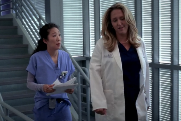 When Erica Hahn repeatedly prevented Cristina from being picked for cardio procedures.
