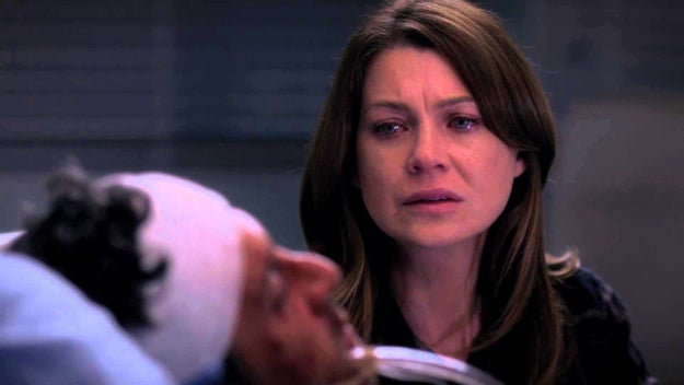 And then when we didn't get a chance to see the aftermath of Derek's death.