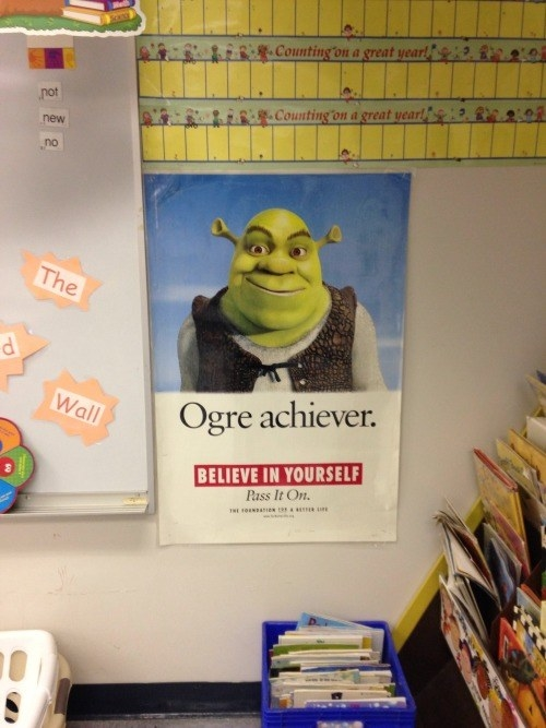 This motivational teacher who found the perfect opportunity for a pun: