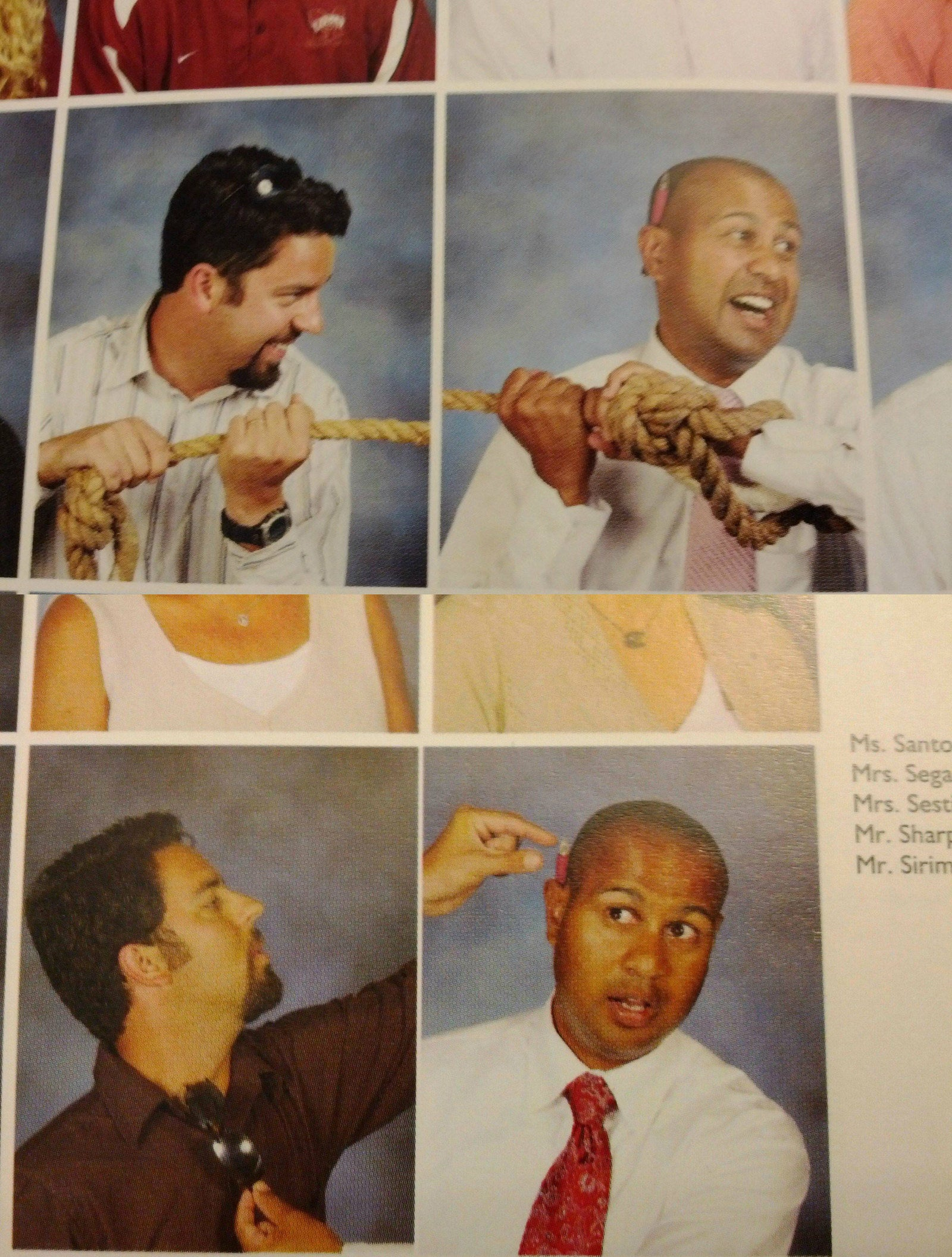 These colleagues with a running streak for best matching Yearbook photos: