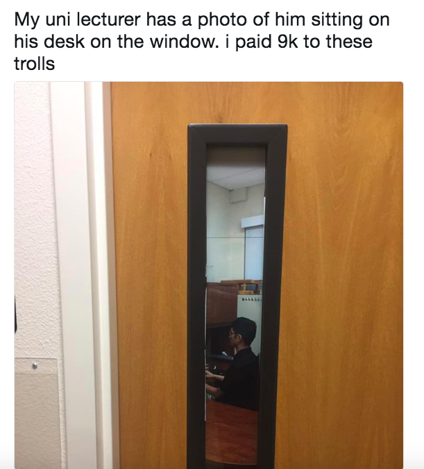 This trickster whose office hours were an illusion: