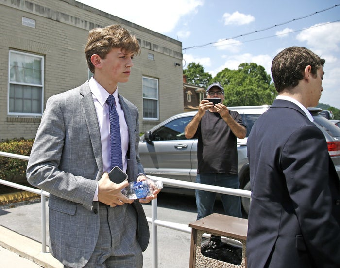 Parker Jax Yochim, one of the fraternity members charged in Piazza's death, during last year's preliminary hearing.