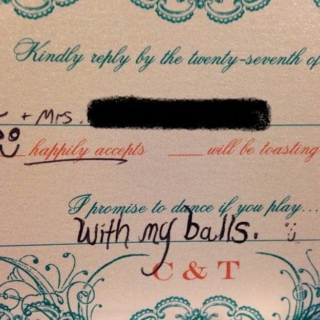 This wedding RSVP: