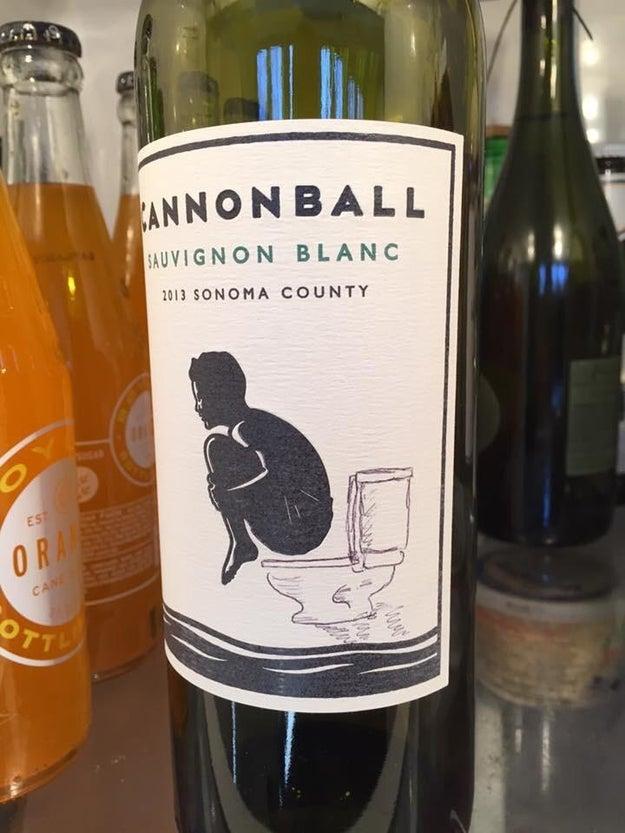 This husband's wine bottle doodle: