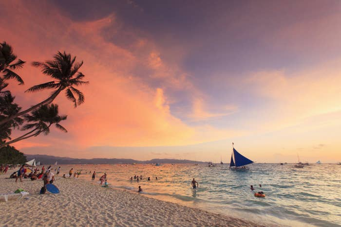 """Aside from the long expanse of white sand, Boracay is also popular for its parties and cheap drinks (or cheap anything for that matter). It's been dubbed the """"Ibiza of Southeast Asia""""."""