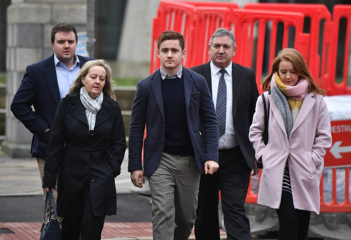 """A friend of the Ulster stars, Blane McIlroy, was found not guilty of exposure, while a second friend, Rory Harrison, was found not guilty of perverting the course of justice and withholding information.During the trial, which began in January at Belfast crown court, jurors heard evidence from all four men and the alleged victim, who was 19 when the alleged incident took place. The woman testified that she had gone to a nightclub in Belfast before going back to a party at Jackson's home. She shared consensual kissing with Jackson in a bedroom but claimed she asked to stop when he tried to remove her clothes and left the bedroom. When she returned to retrieve her bag, she claimed, she was raped by Jackson, and she also claimed that she was then forced to perform a sex act on Olding, who entered the room later. She said when McIlroy then entered the room naked, she fled the home, before returning to find her phone. It was then that she claimed she was approached by Harrison, who, according to her, asked if she was ok and took her home. Following the alleged incident, the woman attended a sexual assault referral center. In evidence given at the trial, a doctor for the clinic said she presented genital injuries, but they could not say what had caused the injuries. The defence argued that the woman made false rape allegations because she regretted having group sex with the men and feared it may have been documented and would appear on social media.Olding said that when he entered the room, the woman invited him to stay. Harrison told the jury he did not try and cover up the woman, and that, """"Patrick Jackson is the last person in the world who would rape someone.""""They denied allegations that they met the next day to decide how to cover up what happened.The woman contacted Harrison following the alleged incident, saying in a text, """"what happened last night was not consensual"""", Harrison told the jury he did not pass this on to Jackson as he did not believe what she said."""
