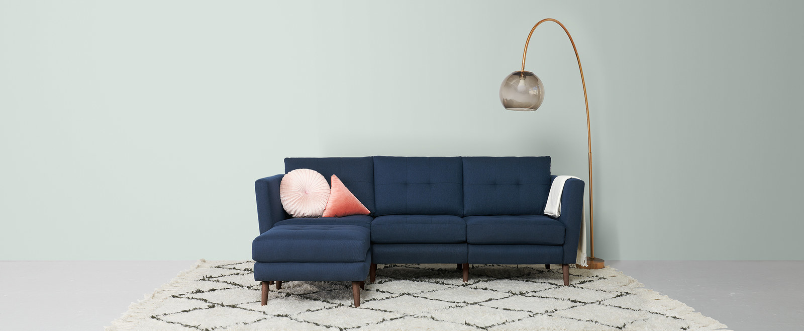 Burrow Only Offers One Sofa But You Get To Decide The Color, Size, Oh, And  It Has A Hidden USB Charging Port.