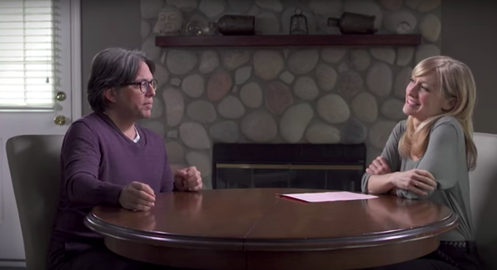 Mack interviewing Raniere for a YouTube channel promoting NXIVM.