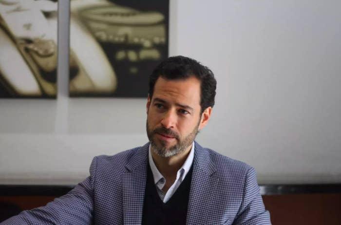 Emiliano Salinas, hijo del expresidente mexicano Carlos Salinas.