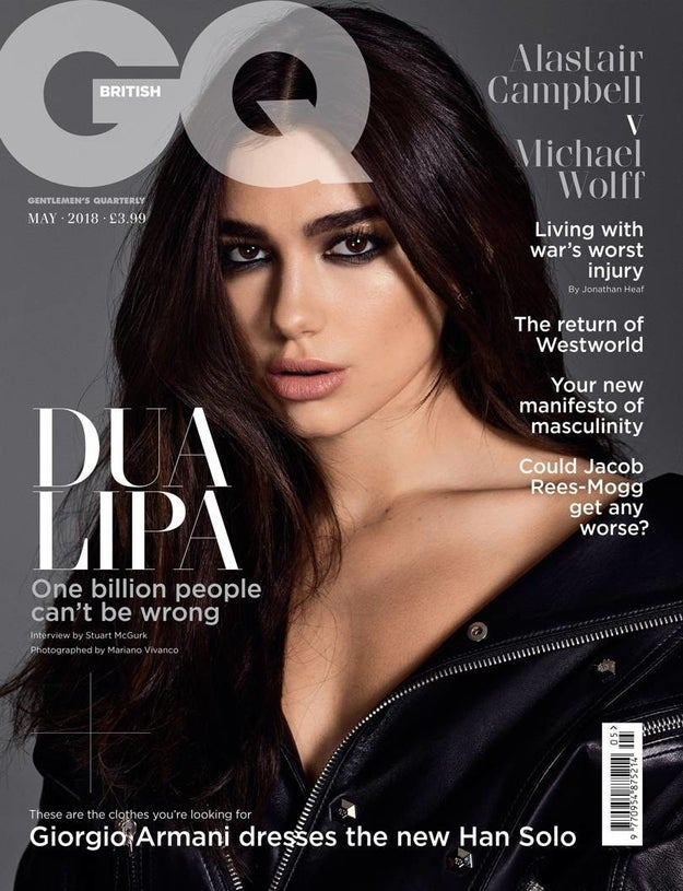 Dua is on the cover of the latest edition of British GQ, and I think you can agree she is totally slaying the whole damn thing.