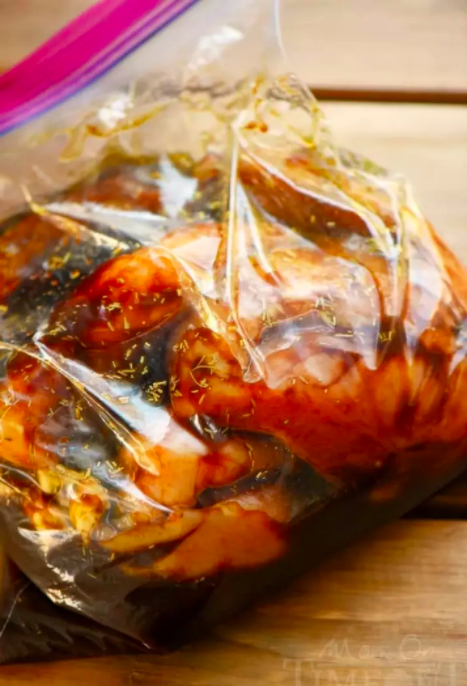 Buy chicken in family packs, drop the extras into sealable bags with marinade, and freeze.