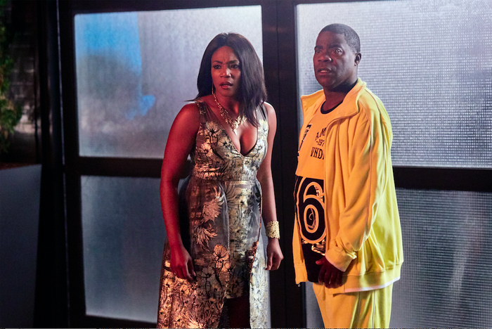 Tiffany Haddish (left) and Tracy Morgan in their new TBS show The Last O.G.