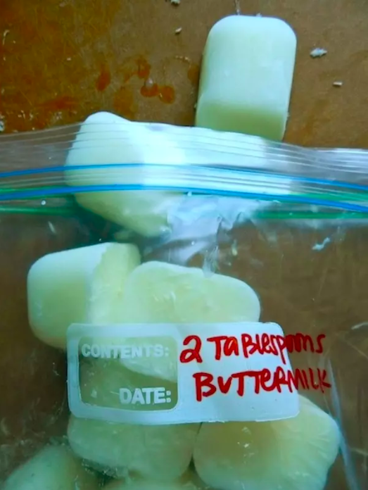 If your buttermilk is about to expire, use an ice cube tray to salvage the leftovers.