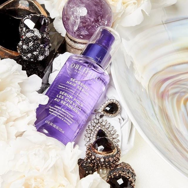 """""""A mini bottle of Obliphica Professional Seaberry Hair Serum came in my Birchbox one month and I have bought the full size multiple times ever since! I put it on the ends of my hair when it's still damp and once my hair dries it's so soft and magical! Also it SMELLS INCREDIBLE, UGH!""""—jennifertontiGet it from Amazon for $38."""