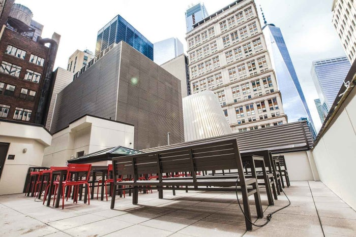 View from the rooftop deck of Chick-fil-A's new Manhattan store.
