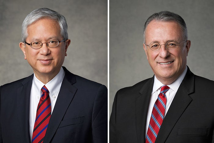 Gerrit W. Gong, left, and Ulisses Soares.