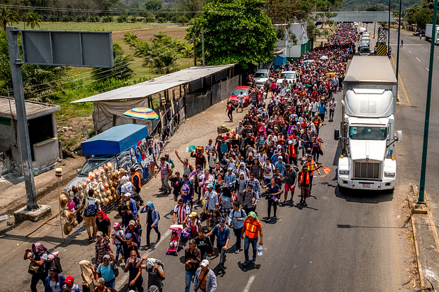 A Huge Caravan Of Central Americans Is Headed For The US, And No One In Mexico Dares To Stop Them