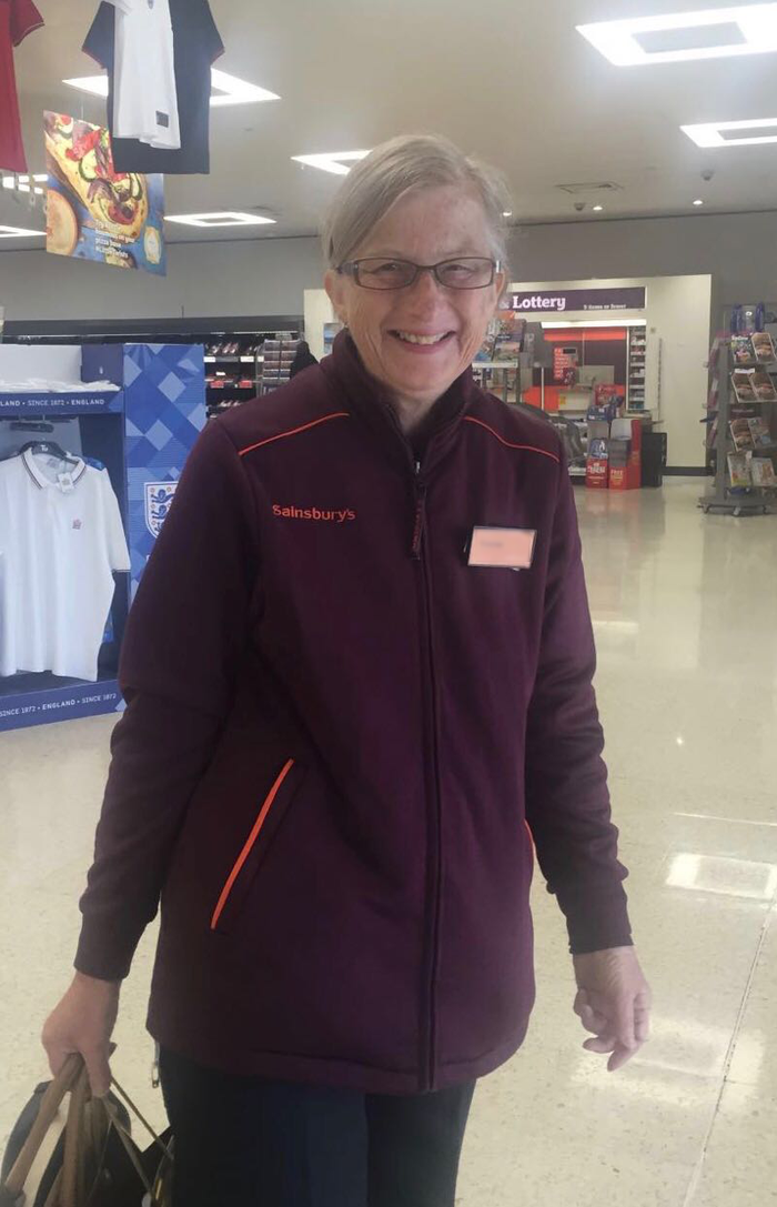 Doron Salomon's mum, who only recently stopped working at the Sainsbury's store in Kenton, north London, despite living with Alzheimer's for years.