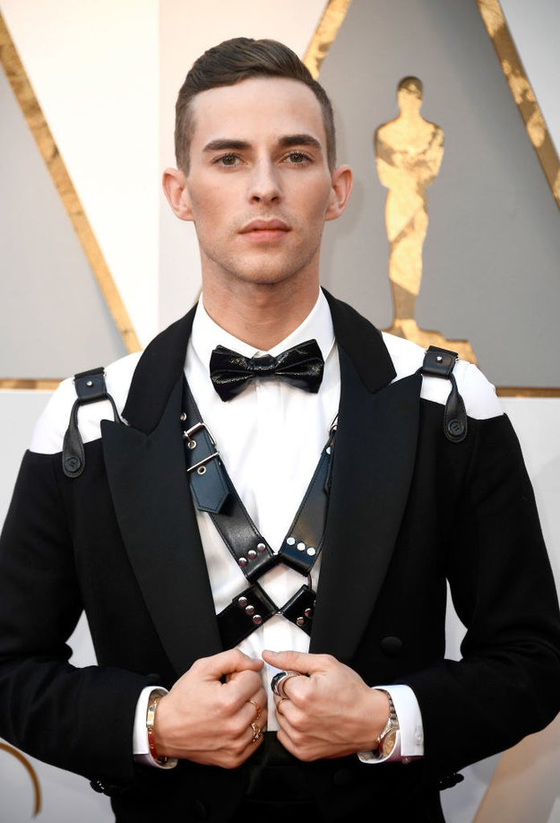 Adam Rippon's Leather Harness At The Oscars Is Gay AF And We Are Here For It