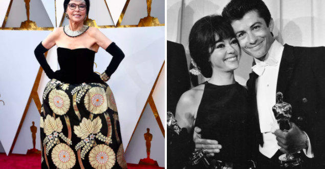Rita Moreno Went To The Oscars In The Same Dress She Wore In 1962, And It's Iconic