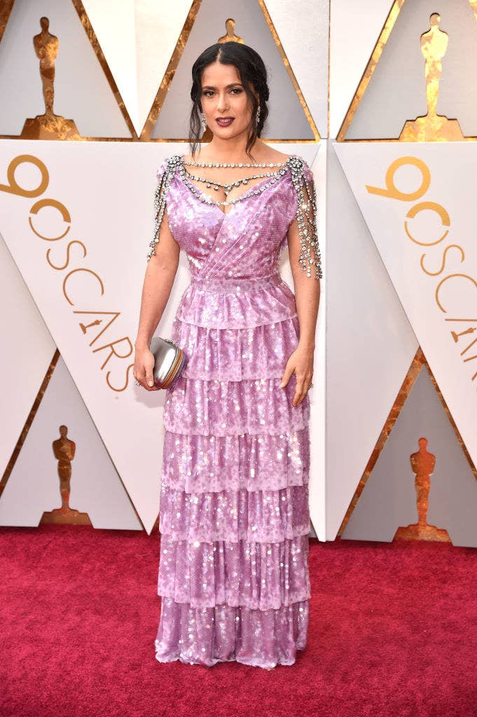 I Have Gathered You Here Today To Talk About Salma Hayek Pinault And Her Incredible Sparkly Dress Of My Dreams At This Year S Oscars