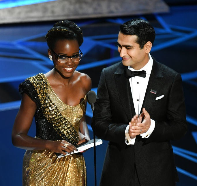 Before presenting the award for Best Production Design, Nyong'o and Nanjiani — who are both immigrants — gave a shout-out to young, undocumented immigrants currently awaiting a pathway to permanent US citizenship.