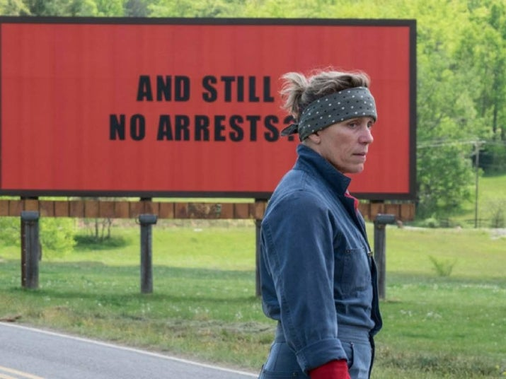 Tres carteles por un crimen, Frances McDormand