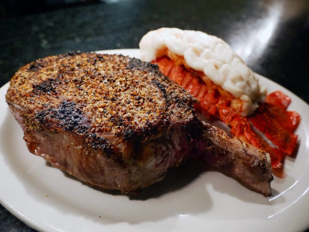 A porterhouse steak from Buffalo Chop House, NY, USA