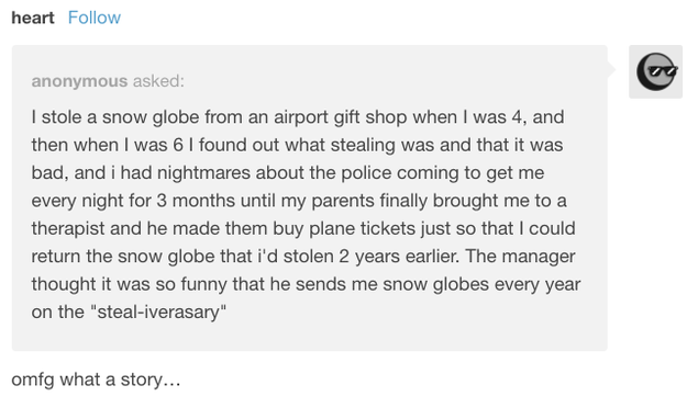 The one about the four-year-old thief: